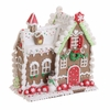 RAZ Chocolate Moose 8 inch Gingerbread House