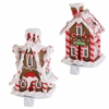 RAZ Chocolate Moose 8 inch Lighted Gingerbread House Stocking Holder