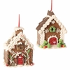 RAZ Chocolate Moose Gingerbread Houses