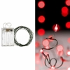 RAZ Christmas 20 Foot Red LED Lights on Wire Garland