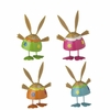 RAZ Cottontail Toile Bobble Bunnies set of 4