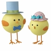 RAZ Cottontail Toile Easter Chick Couple