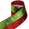 RAZ Count Down to Christmas 4 inch Metallic Striped Wired Ribbon