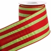 RAZ Count Down to Christmas 4 inch Striped Wired Ribbon