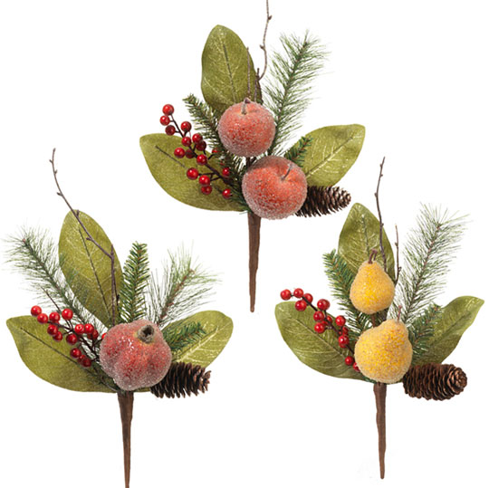 beaded sugared Christmas fruit for decorating