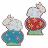 RAZ Easter 15 inch Bunny on Easter Egg Stand