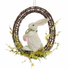 RAZ Easter 21 inch Bunny with Easter Egg Wreath