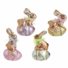 RAZ Easter 4.5 inch Foiled Bunny on Egg Ornament
