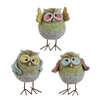 RAZ  Patio Party 4.5 inch Pastel Owl Set