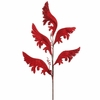 RAZ Festive Forever 32 Inch Red Acanthus Leaf Spray