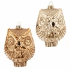 RAZ Forest Friends 4 inch Glass Owl Ornaments set of 2
