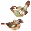RAZ Forest Friends 5 inch Glass Bird Ornaments