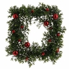 RAZ Fresh Greens 18inch Boxwood Wreath with Ornaments
