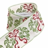 RAZ Fresh Greens 2.5inch Mistletoe Wired Ribbon