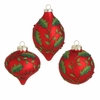RAZ Fresh Greens 4.5 inch Glittered Holly Ornament
