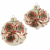 RAZ Fresh Greens 4 inch Plaid Holly Ornament
