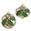 RAZ Fresh Greens 4inch Glittered Holly Ornament