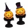 RAZ Ghastly Graveyard 12inch Lighted Jack-o-Lantern on Base