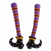 RAZ Ghastly Graveyard 19inch Witch Legs Purple