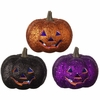 RAZ Ghastly Graveyard 5inch Lighted Glittered Jack-o-Lantern
