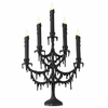 RAZ Ghastly Graveyard Black Candelabra Halloween Decoration