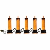 RAZ Ghastly Graveyard Orange Glitter Candle Electric Strand