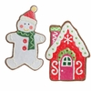 Raz Gumdrop and Jelleybean 16 inch Snowman and House Ornament