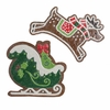 Raz Gumdrops and Jelleybeans 12 inch Sleigh and Deer Ornament