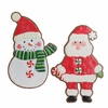 Raz Gumdrops and Jelleybeans 16 inch Santa and Snowman Ornament