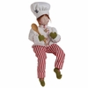 Raz Gumdrops and Jelleybeans 18 inch Sitting Chef Elf