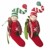 RAZ Gumdrops and Jellybeans 13 Inch Snowman Stocking Ornaments, set of 2