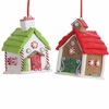 RAZ Gumdrops and Jellybeans 3 Inch Gingerbread House Ornaments set of  2
