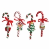 RAZ Gumdrops and Jellybeans 5.5 Inch Candy Cane with Charms Ornaments
