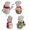RAZ Gumdrops and Jellybeans 6 Inch Baking Snowman Ornaments set of  4