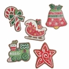 RAZ Gumdrops and Jellybeans 7.5 Inch Cookie Ornaments set of 5