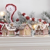 RAZ Gumdrops and Jellybeans Gingerbread House Ornaments, set of 3