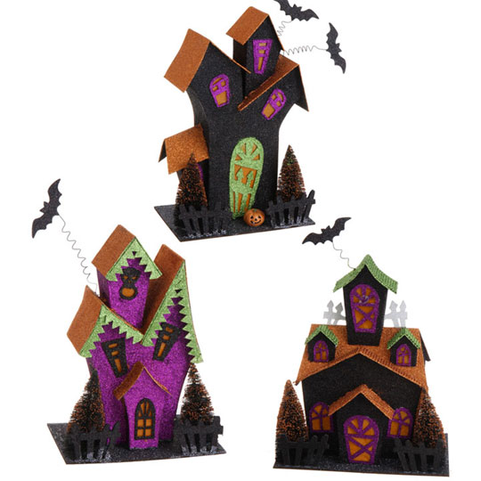 lighted haunted house decoration