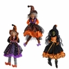 RAZ Halloween 15 inch Hanging Witch Ornaments set of 3