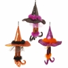 RAZ Halloween 18 inch Hanging Witch Legs with Hats