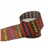 RAZ Halloween 2.5 inch Glittered Chevron Wired Ribbon