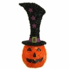 RAZ Halloween 20 Inch Lighted Tinsel Jack O Lantern
