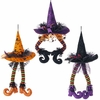 RAZ Halloween 23 inch Hanging Witch Hat with Legs