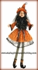 RAZ Halloween 37 inch Posable Sitting Witch in Orange Dress