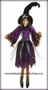RAZ Halloween 37 inch Posable Sitting Witch in Purple Dress