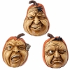 RAZ Halloween 4.5 inch Scary Pumpkin Face set of 3