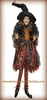 RAZ Halloween 43 inch Posable Sitting Witch in Orange Dress