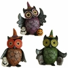 RAZ Halloween 5 inch Witch Owl set of 3