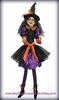 RAZ Halloween Witch 43 inches in Purple Dress