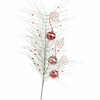RAZ Holiday on Ice 26.5 inch Glittered Pine Ornament Spray