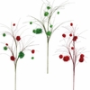 RAZ Red and Green Pom Pom Sprays set of 2